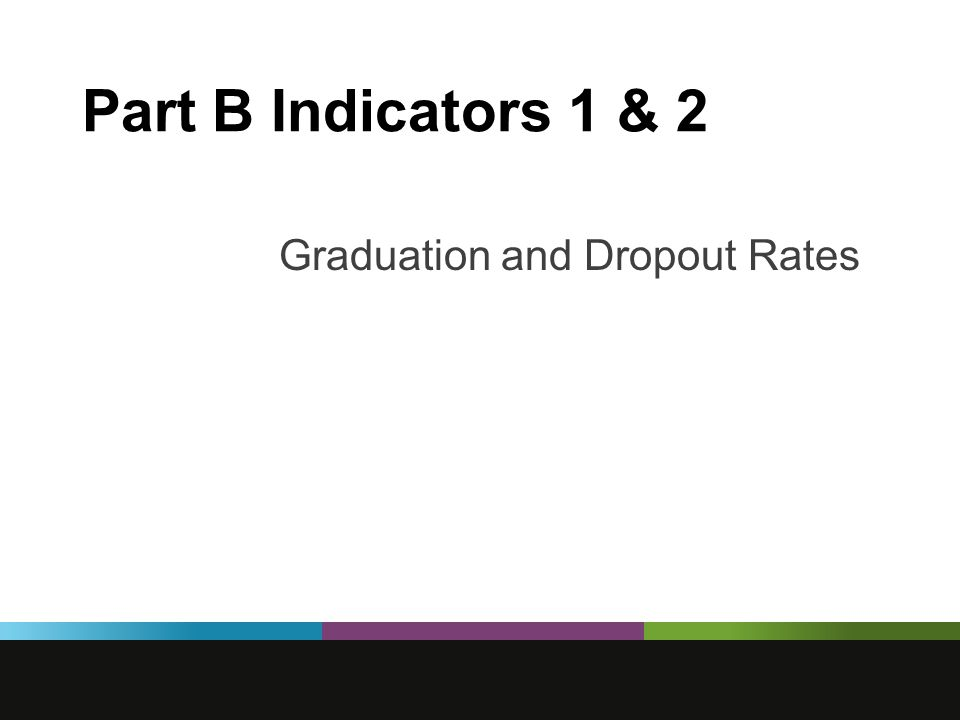 Part B Indicators 1 & 2 Graduation and Dropout Rates