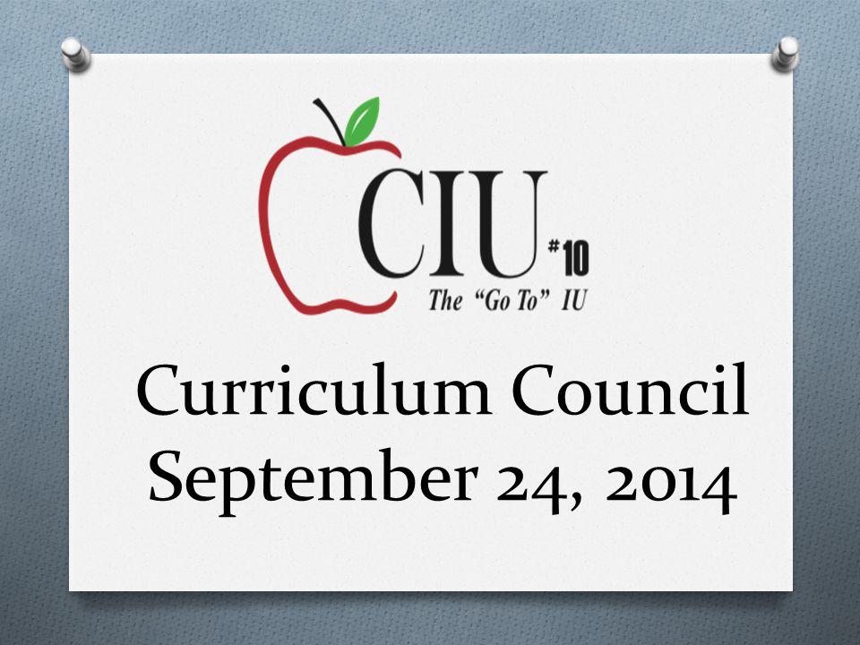 Curriculum Council September 24, 2014