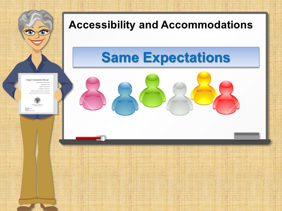 Same Expectations Accessibility and Accommodations