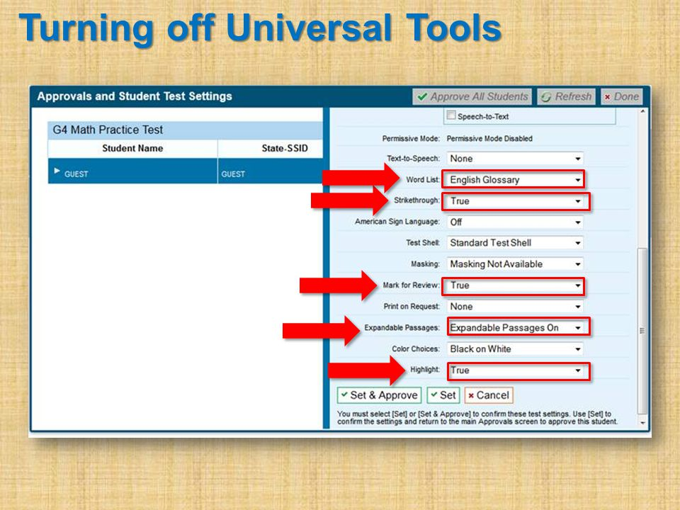 Turning off Universal Tools