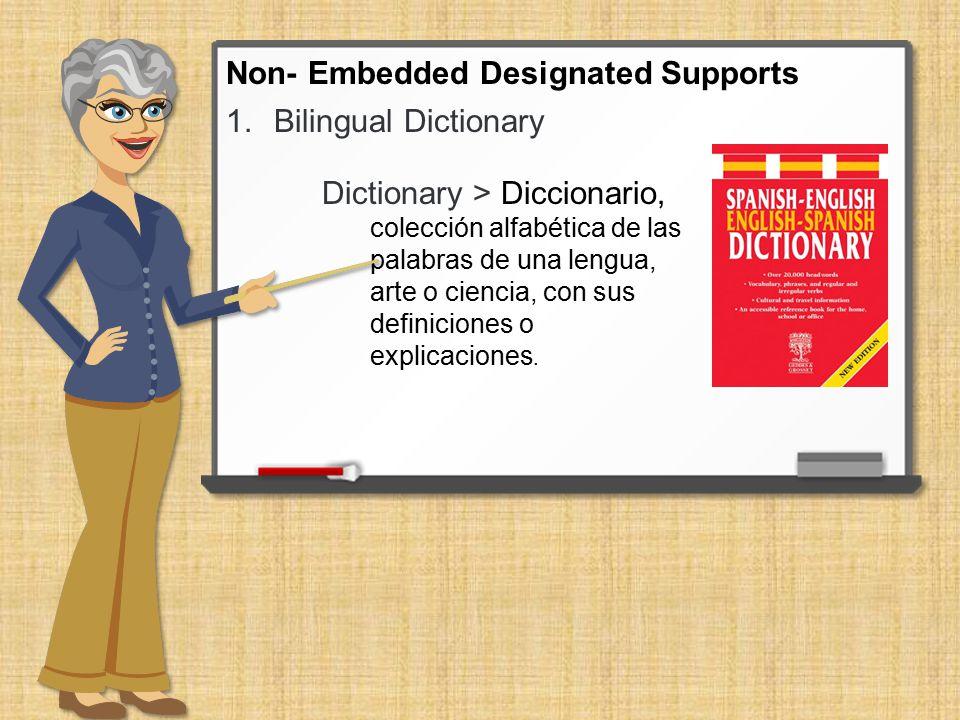1.Bilingual Dictionary Dictionary > Diccionario, colección alfabética de las palabras de una lengua, arte o ciencia, con sus definiciones o explicacio