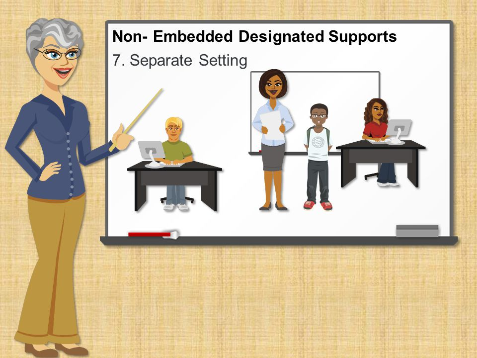 7. Separate Setting Non- Embedded Designated Supports