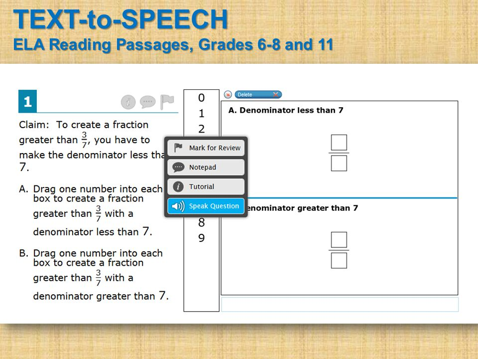 TEXT-to-SPEECH ELA Reading Passages, Grades 6-8 and 11