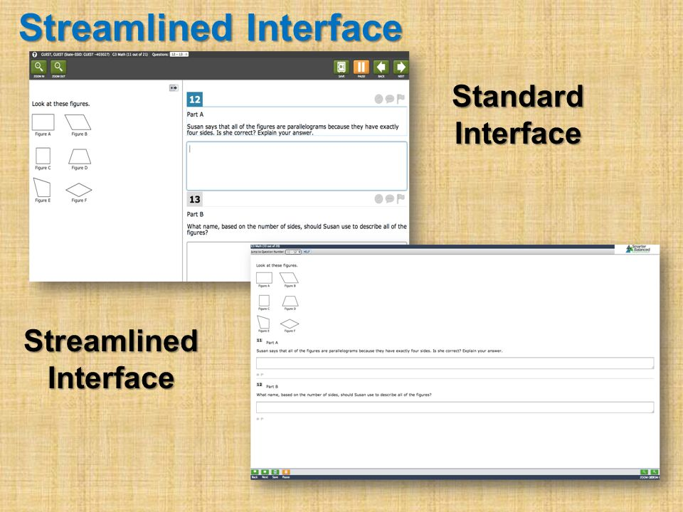 Streamlined Interface StandardInterface