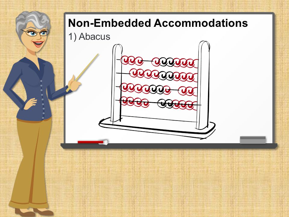 1) Abacus Non-Embedded Accommodations