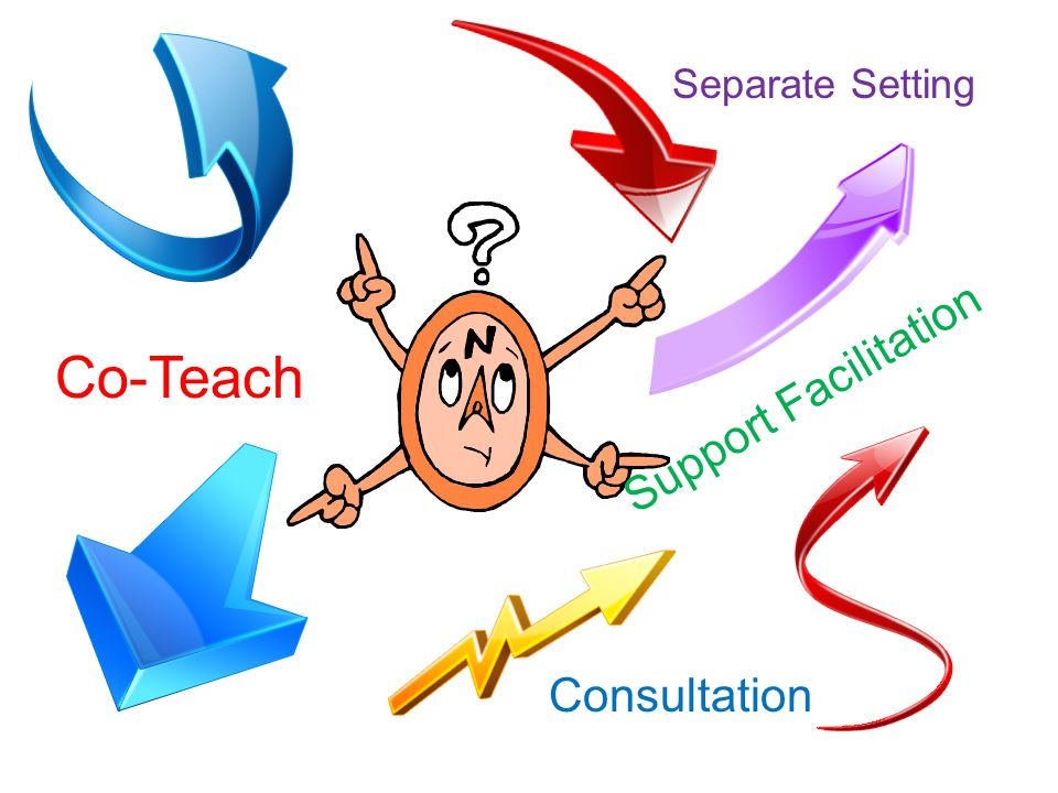 Co-Teach Separate Setting Consultation Support Facilitation