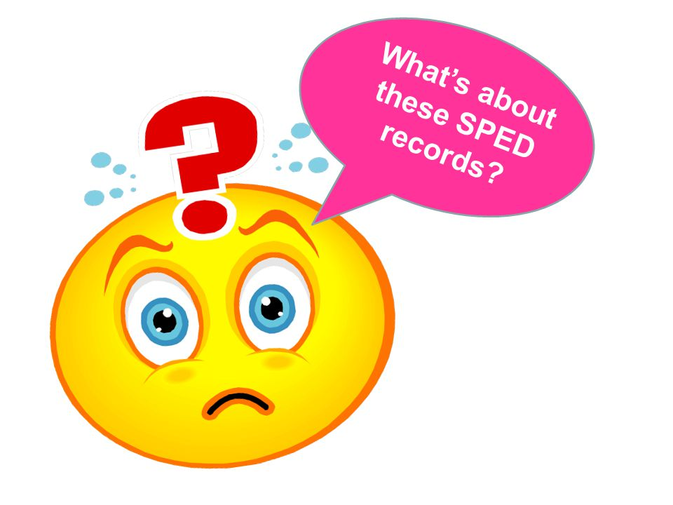 What's about these SPED records?