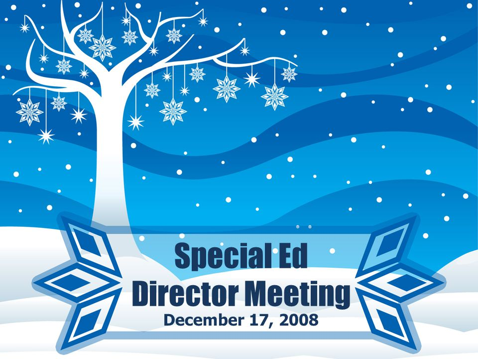 Special Ed Director Meeting December 17, 2008