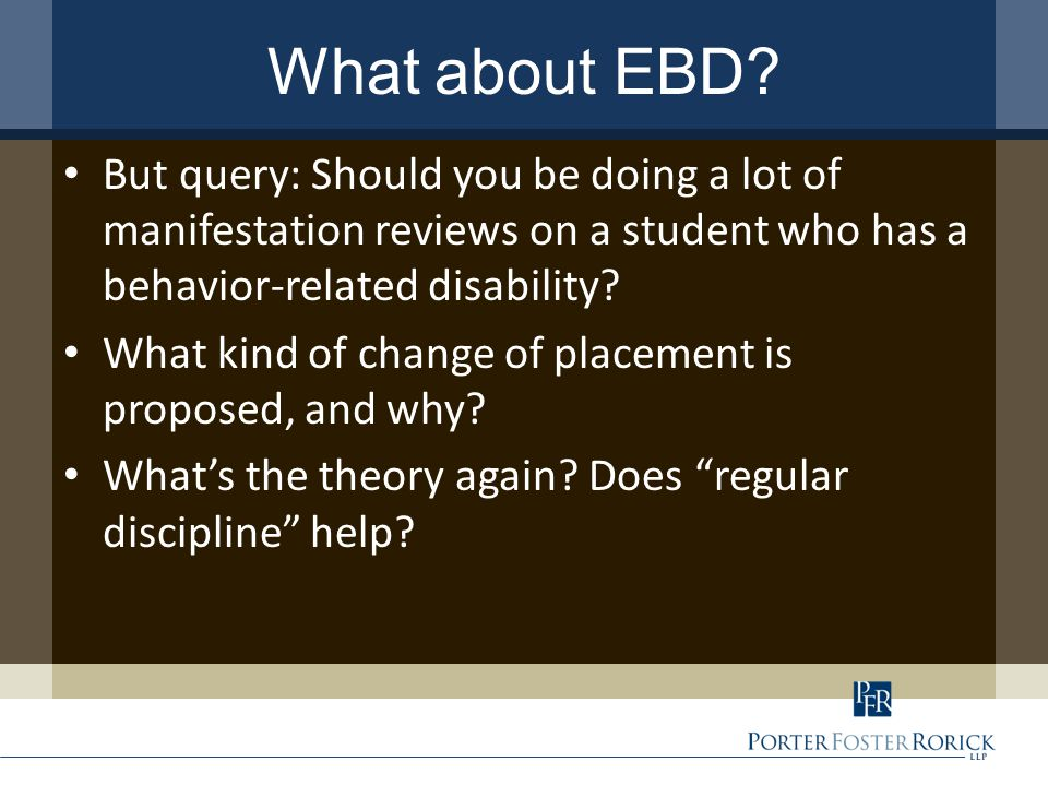 What about EBD.