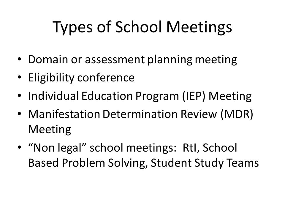 Special Education Meeting MYTH: RtI Testing efforts should not be derailed by RtI RtI means data…get copies.