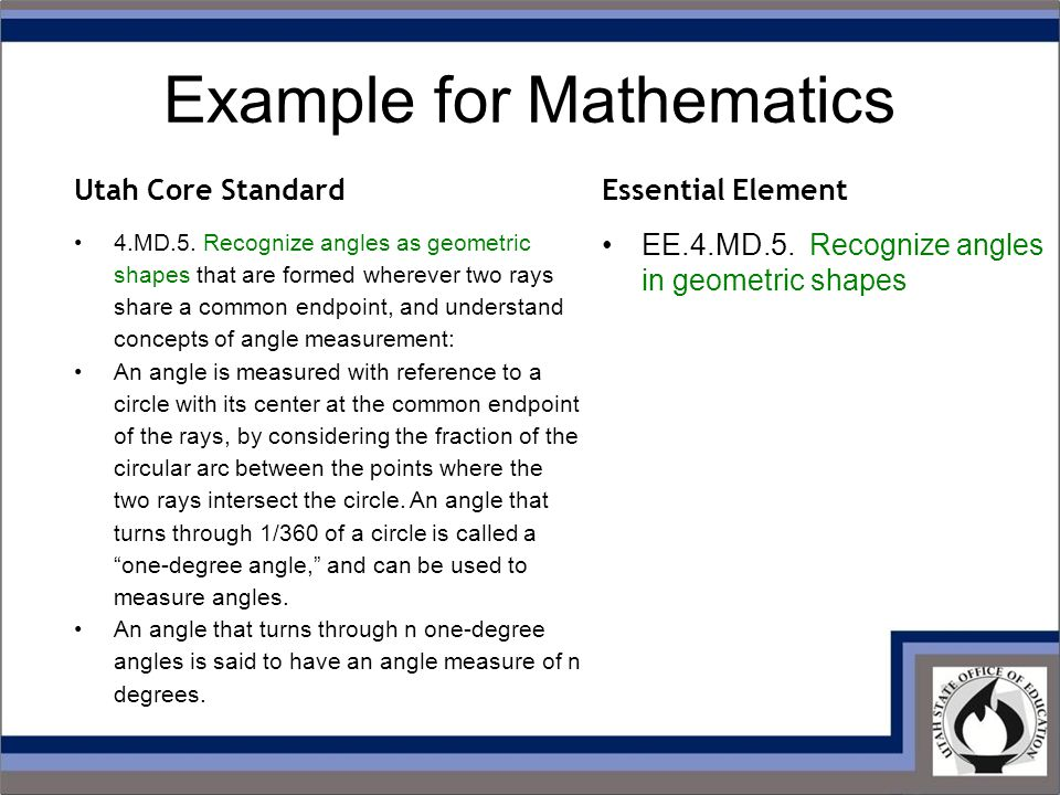 Example for Mathematics 4.MD.5.