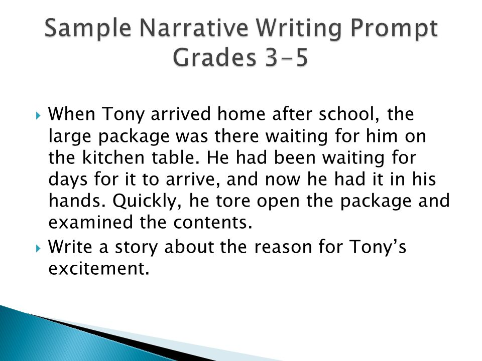  When Tony arrived home after school, the large package was there waiting for him on the kitchen table.