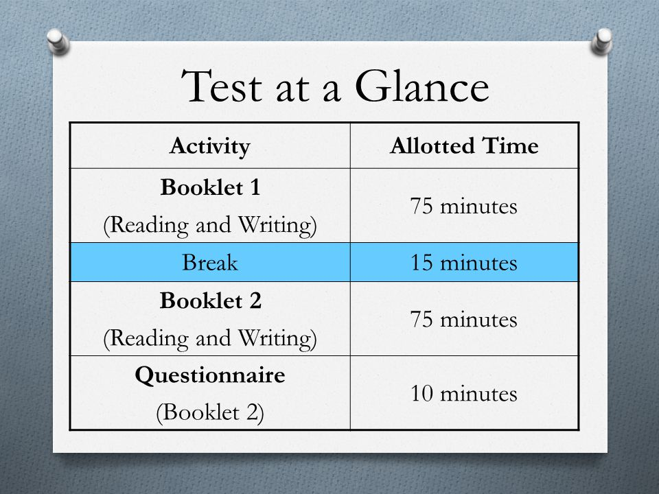 Reading Tips O Read the questions first.