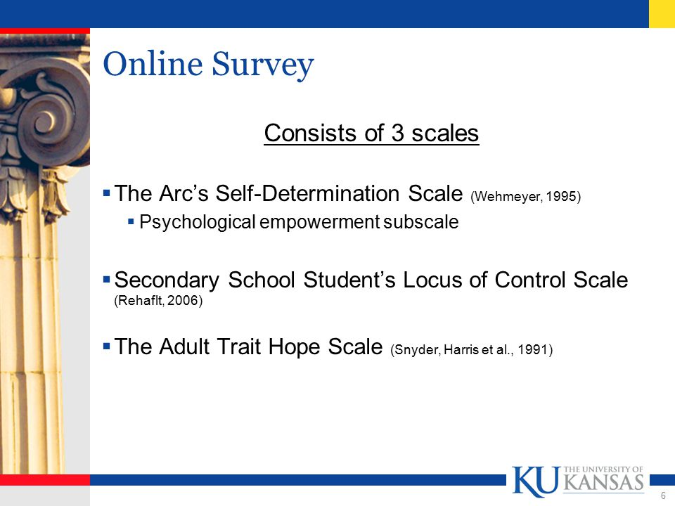7 Online Survey - Design  Accessibility issues  Challenging to find software that created surveys that were accessible.