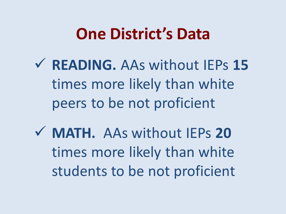 31 Compute risk ratio, e.g., ELL students _ times more likely than peers to score below proficient (Compute only when N > 10) May compute by LEA, grades, grade levels & schools with sufficient N To What Extent Are Students in Various Subgroups More Likely than Others to Score Below Proficient on State Tests.