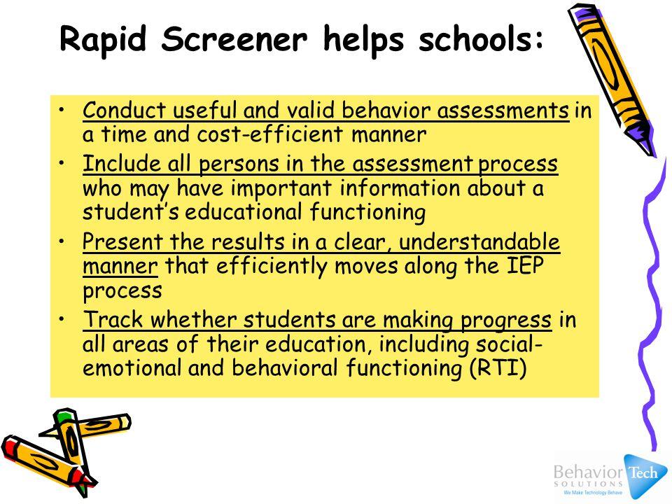 How Rapid Screener Works