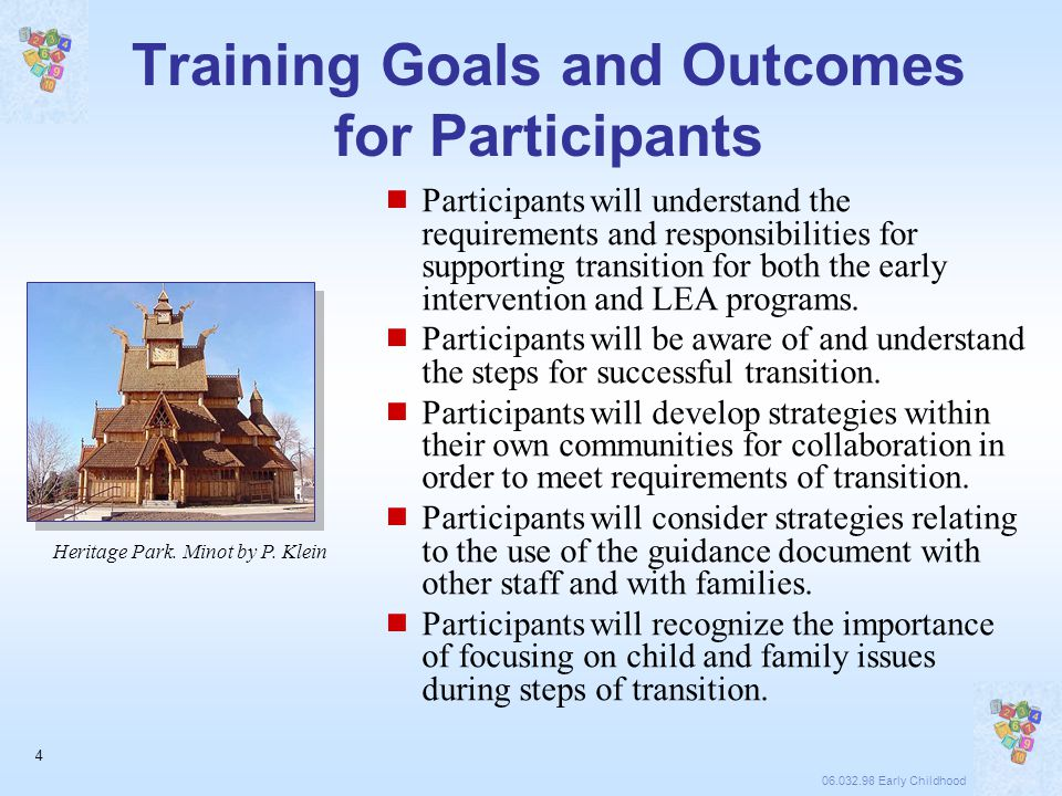 06.032.98 Early Childhood 5 The North Dakota Strategic Process  State Lead Agencies Developed a Strategic Work Plan on Transition  Stakeholders – Early Childhood Transition Workgroup  Review of Monitoring Process – B and C  Looking at Data Collection Processes and Analyses  Use of Consultants  Incorporating Statutory Changes – IDEA 2004  Development of Guidance  Review, Review, Review  Training and TA