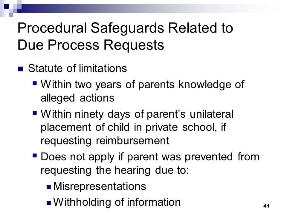 40 Procedural Safeguards Notice (PSN) formerly the Parent and Student Rights brochure The new Procedural Safeguards Notice is available online on the