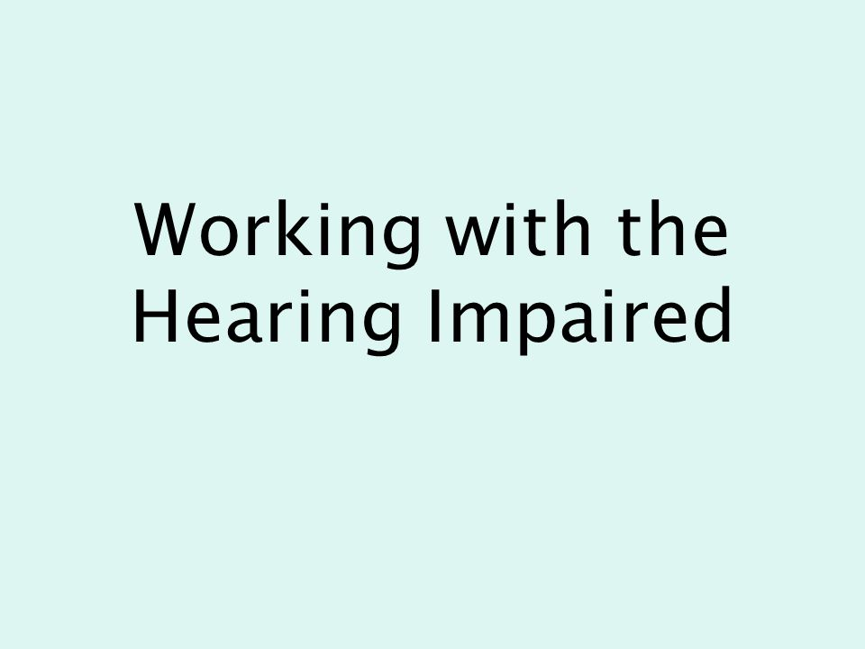 Topics of Discussion What is hearing loss.