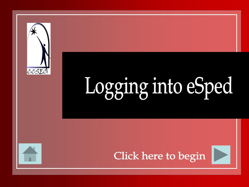 In order to begin using the eSped system, you must first log onto the eSped website.