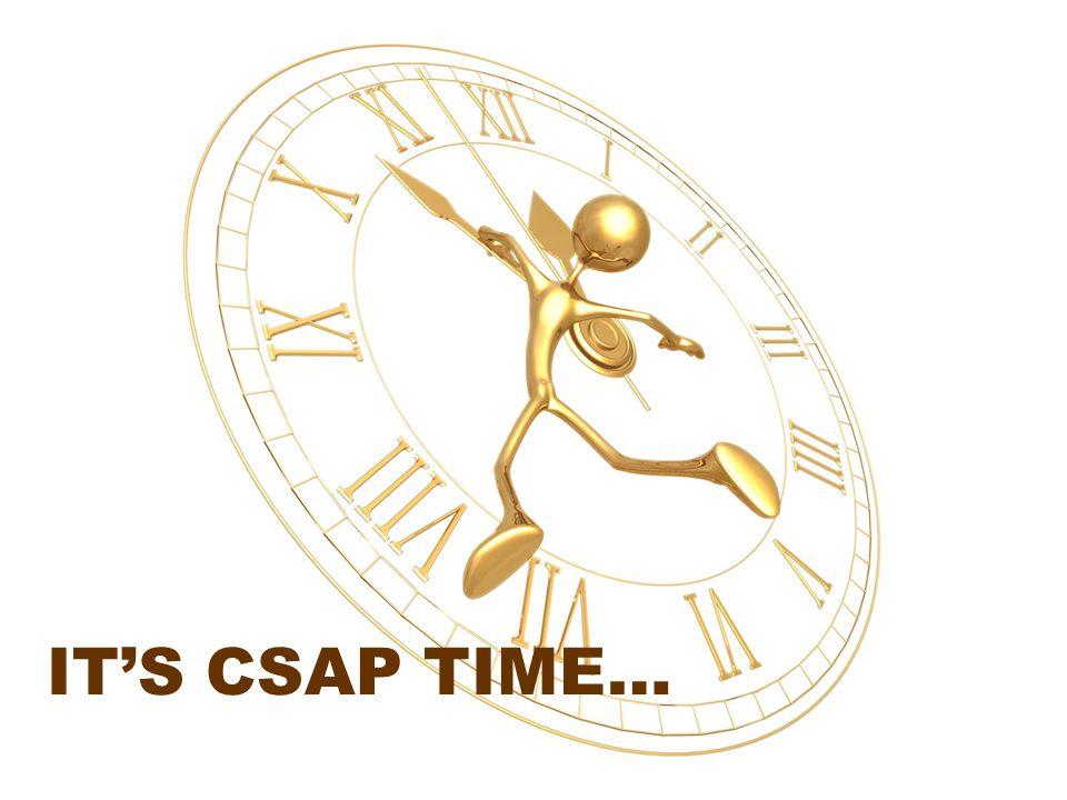 IT'S CSAP TIME…
