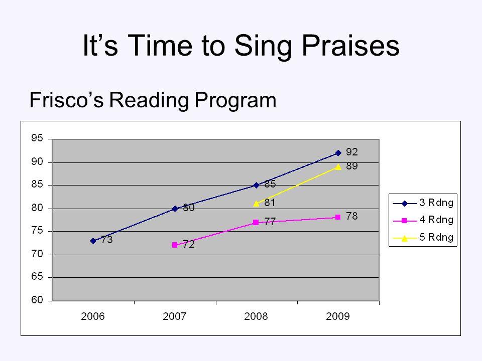 It's Time to Sing Praises Frisco's Reading Program