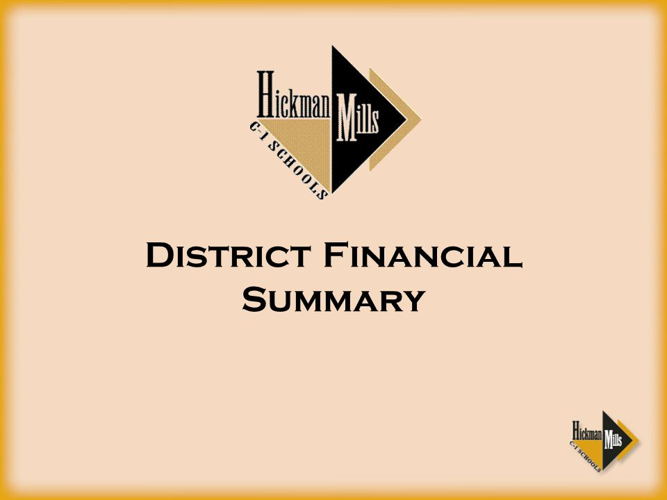 District Financial Summary