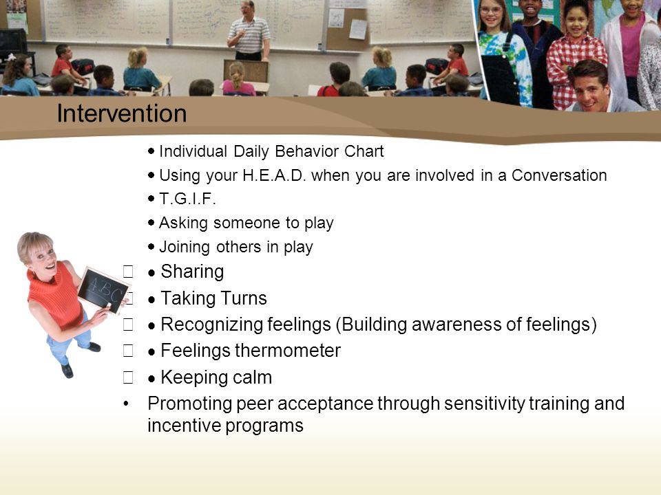 Recommendation Picture identification of feelings Preferred friend/mentor Initiation of play with a same aged friend Communicative exchange with a same aged friend Friendship/mentor system builds friendship/support Continue pragmatics that would increase his communication that was previously assessed a below average level Requires a sensory release time during his school day to maximize Connor's learning potential