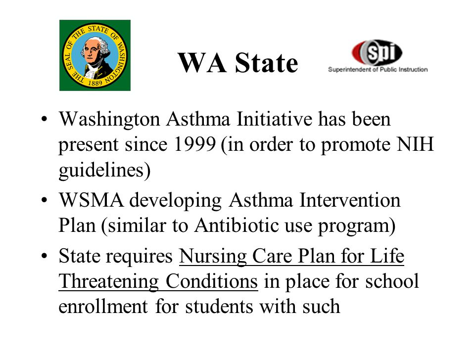 Educational Websites Asthma and physical activities in school: www.nhlbi.nih.gov/health/public/lung/asthma/phy_asth.pdf Allergy & Asthma Network/ Mother's of Asthmatics: http://www.aanma.org/ 1997 NAEPP/NIH Asthma guidelines: http://www.nhlbi.nih.gov/guidelines/asthma/asthgdln.htm National Association of School Nurses: http://www.nasn.org/ American Academy of Allergy, Asthma & Immunology http://www.aaaai.org American Academy of Pediatrics, section on Allergy & Immunol http://www.aap.org 1999 Pediatric Asthma guidelines http://www.aaaai.org