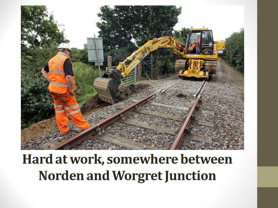 Hard at work, somewhere between Norden and Worgret Junction