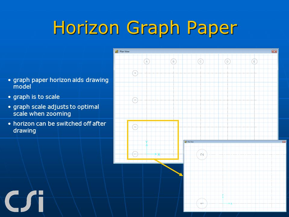 Horizon Graph Paper graph paper horizon aids drawing model graph is to scale graph scale adjusts to optimal scale when zooming horizon can be switched
