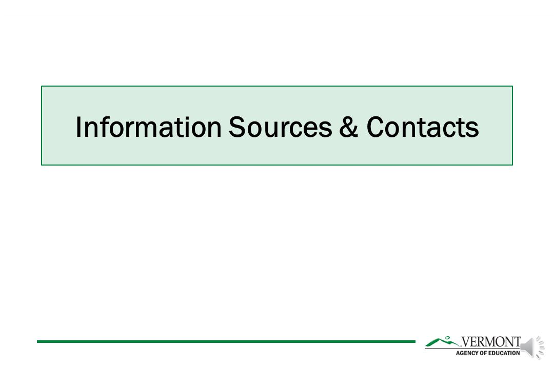 Information Sources & Contacts