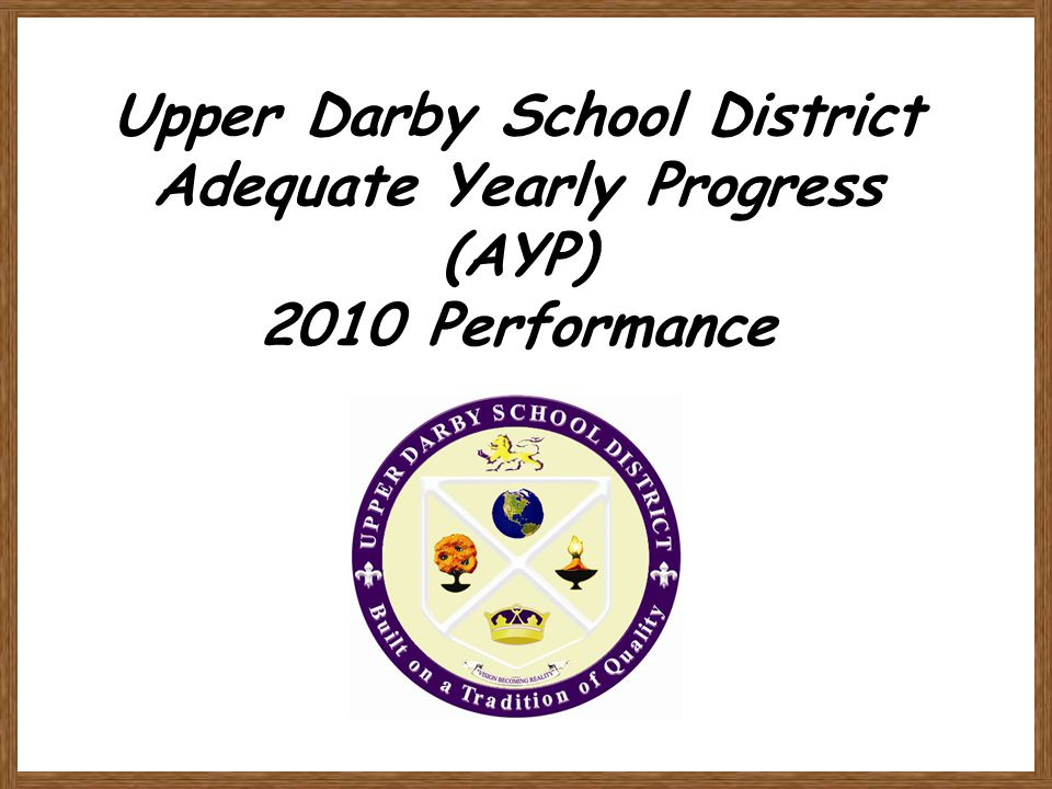 Upper Darby School District Adequate Yearly Progress (AYP) 2010 Performance