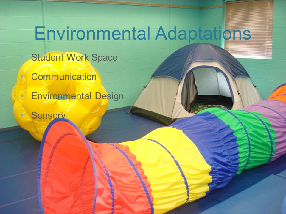 Environmental Adaptations Student Work Space Communication Environmental Design Sensory