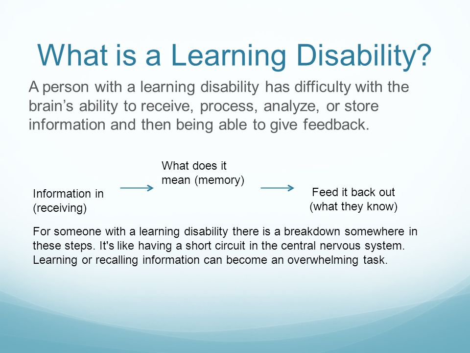 What is a Learning Disability.