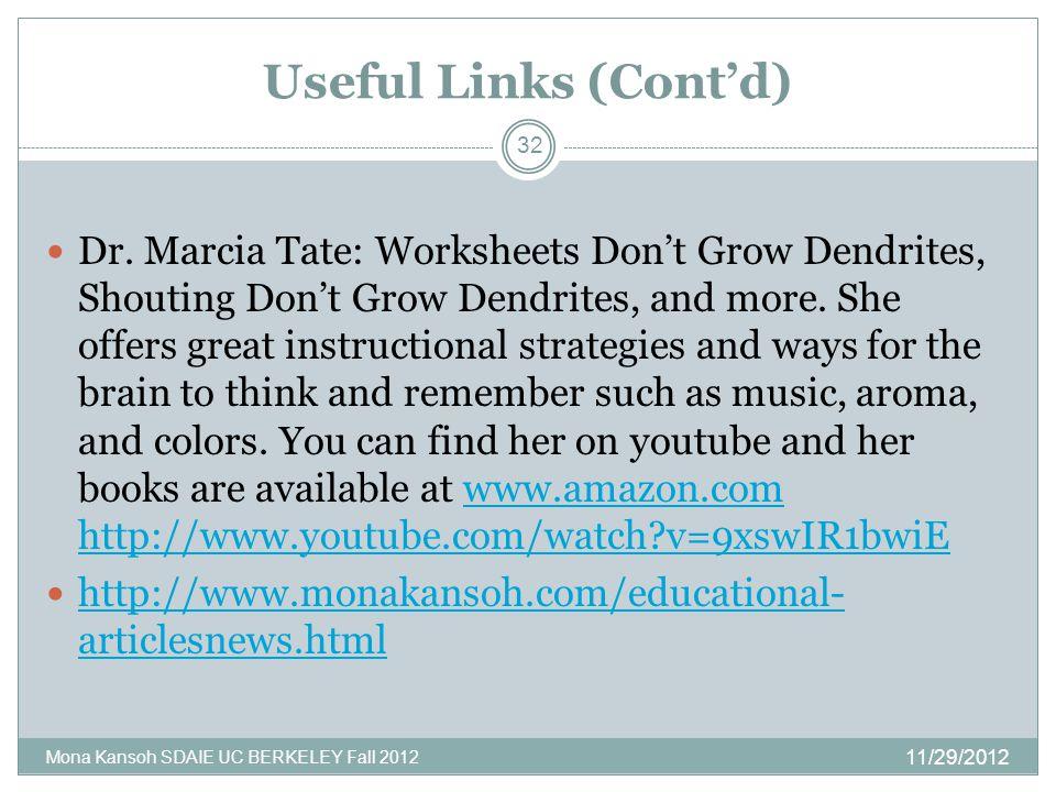 Useful Links (Cont'd) Dr.