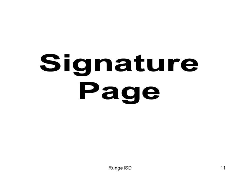 Runge ISD11