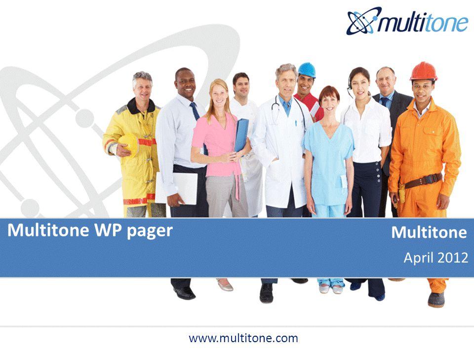 Multitone WP pager www.multitone.com Multitone April 2012
