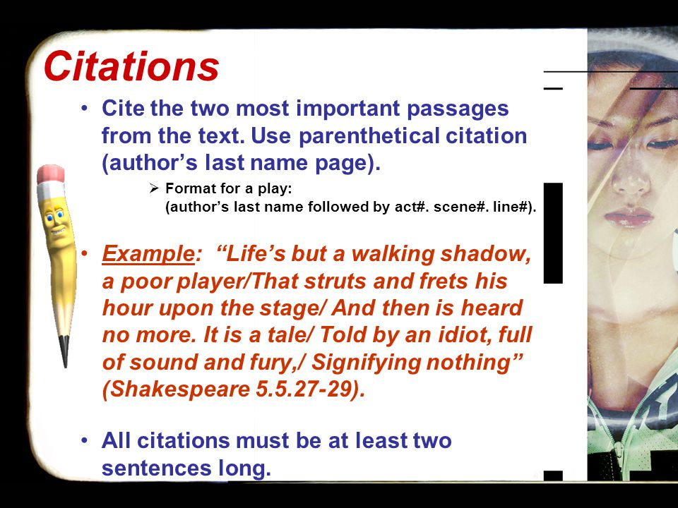 Citations Cite the two most important passages from the text.