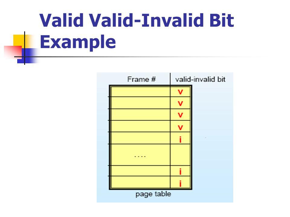 Valid Valid-Invalid Bit Example