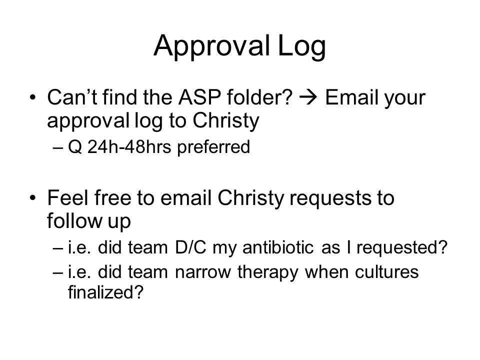 Approval Log Can't find the ASP folder.