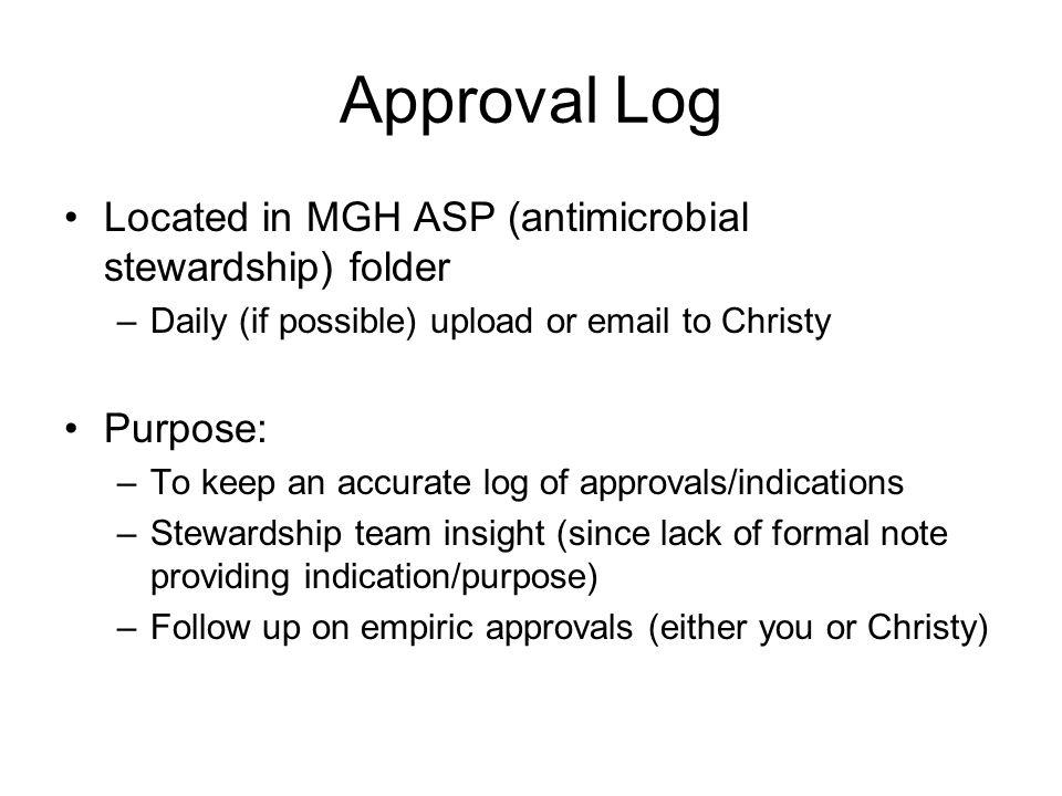 Approval Log