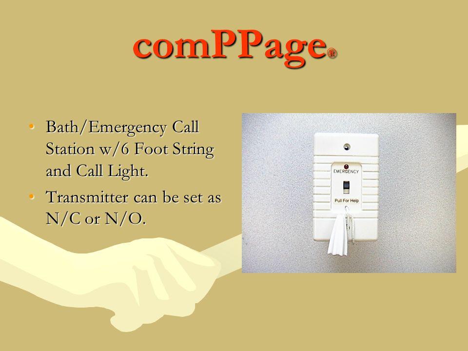 comPPage ® Bath/Emergency Call Station w/6 Foot String and Call Light.Bath/Emergency Call Station w/6 Foot String and Call Light.