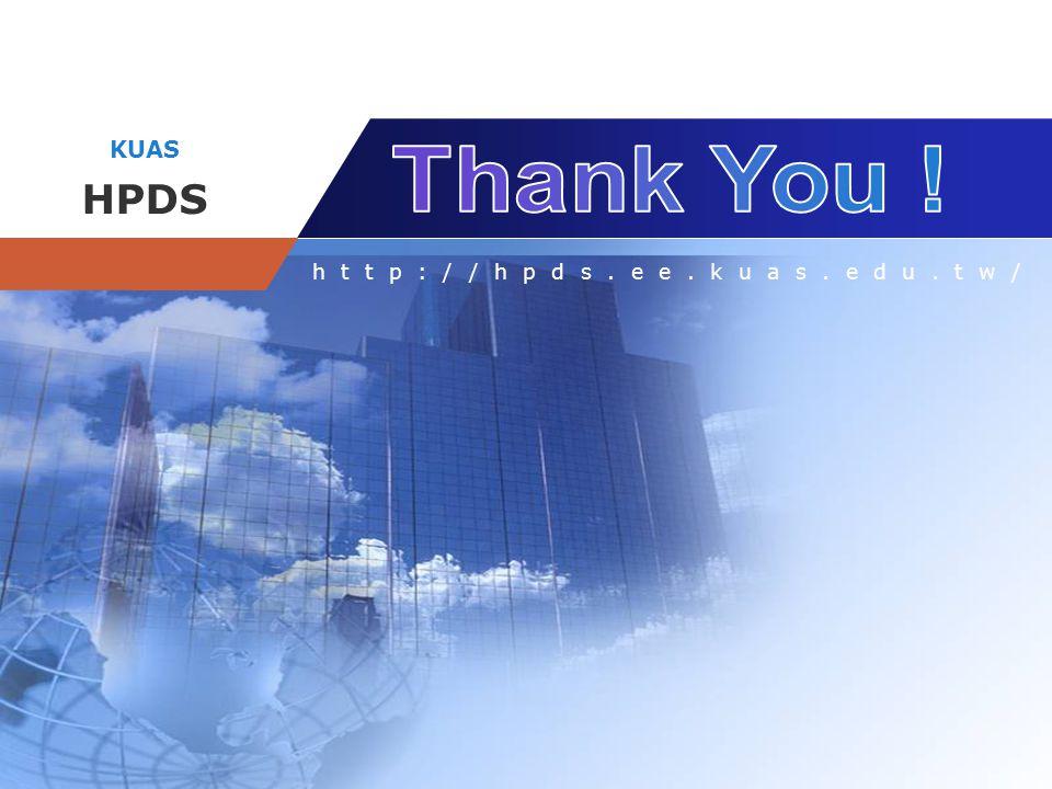 Company name KUAS HPDS http://hpds.ee.kuas.edu.tw/
