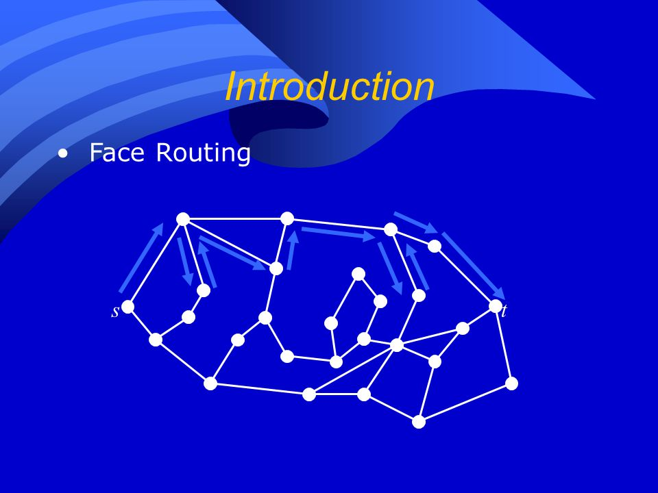 Introduction st Face Routing