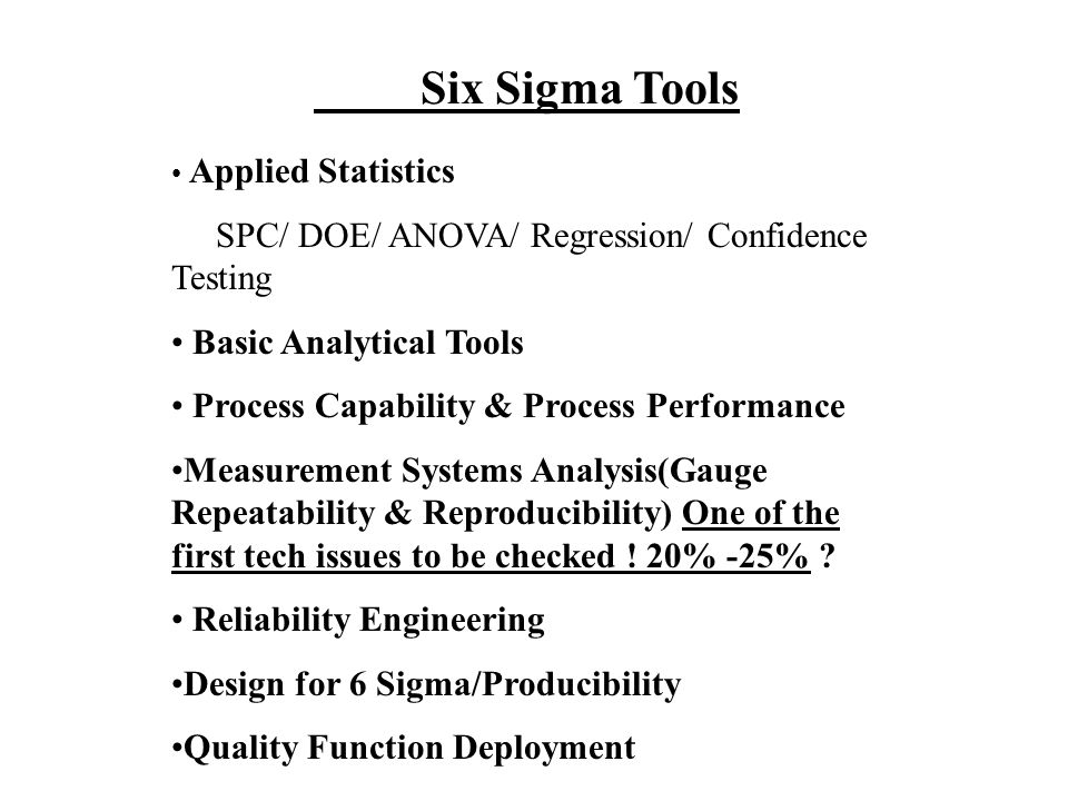 What is Six Sigma? Region of Six Sigma Synergy Insufficient Process Capability Unstable Parts, Materials, Input Inadequate Design Codes 1. Design 2. S