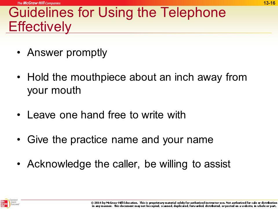 13-15 Communication Skills (cont.)