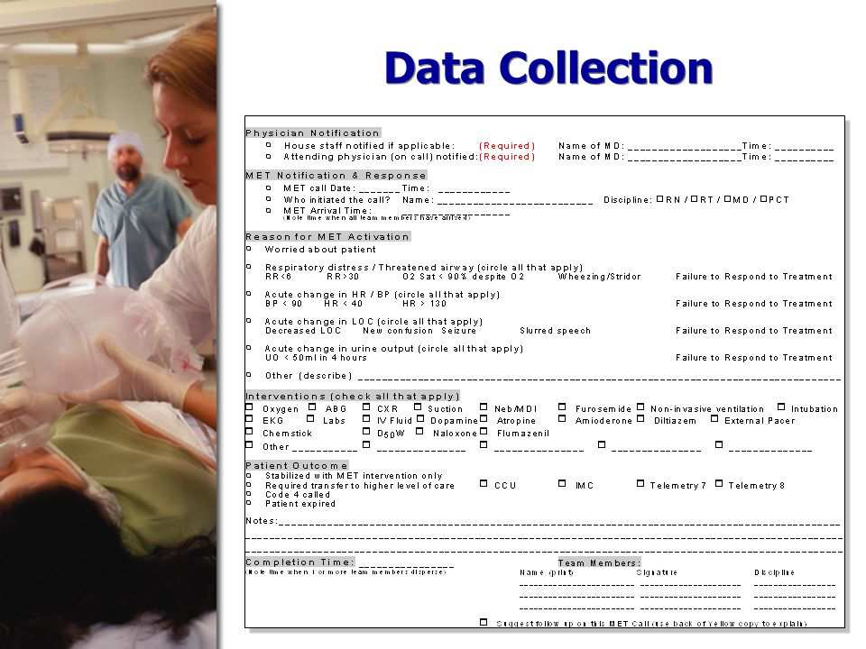 Data Collection Forms Data points entered into excel spreadsh eet