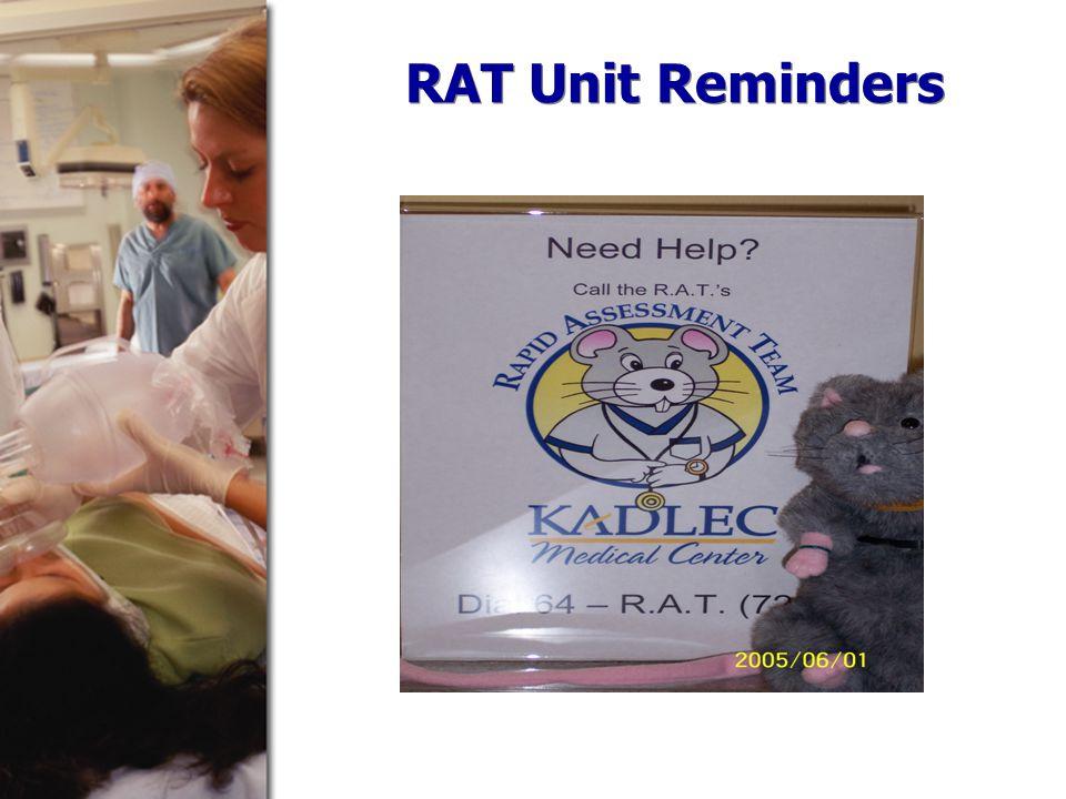 RAT Unit Reminders
