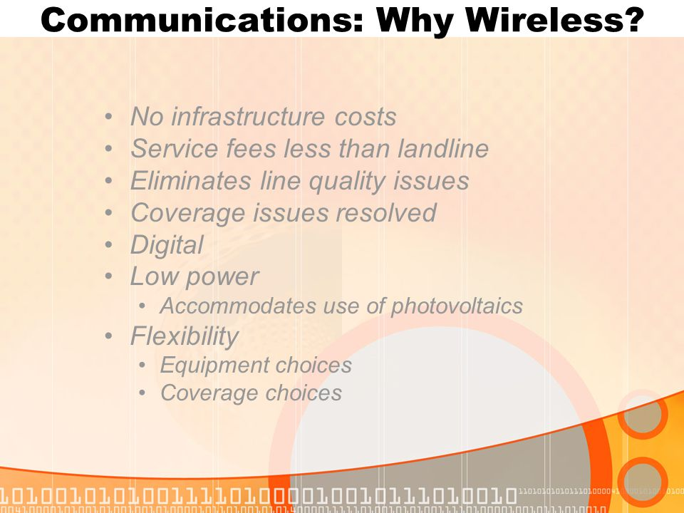 Communications: Why Wireless.
